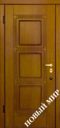 """Серийные входные двери """"Новосел 5"""" (Шпон фрезерованный/Шпон фрезерованный)"""