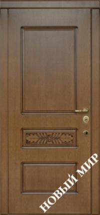 """Серийные входные двери """"Новосел 7 Vinorit-B"""" (MDF/MDF) для внутреннего применения"""